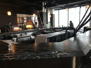 A renovated bar at a client restaurant