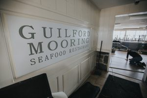 The new entrance to Guilford Mooring restaurant after a total reboot by our restaurant consultant in CT