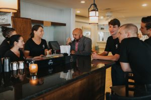 Avery Restaurant Consulting training bartenders, wait staff and kitchen staff as a part of food and beverage consulting