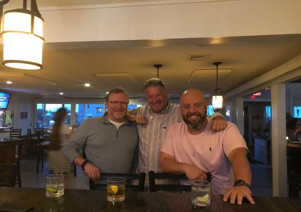 Jason Carron at Avery Restaurant Consulting with owners of Guilford Mooring restaurant in Connecticut
