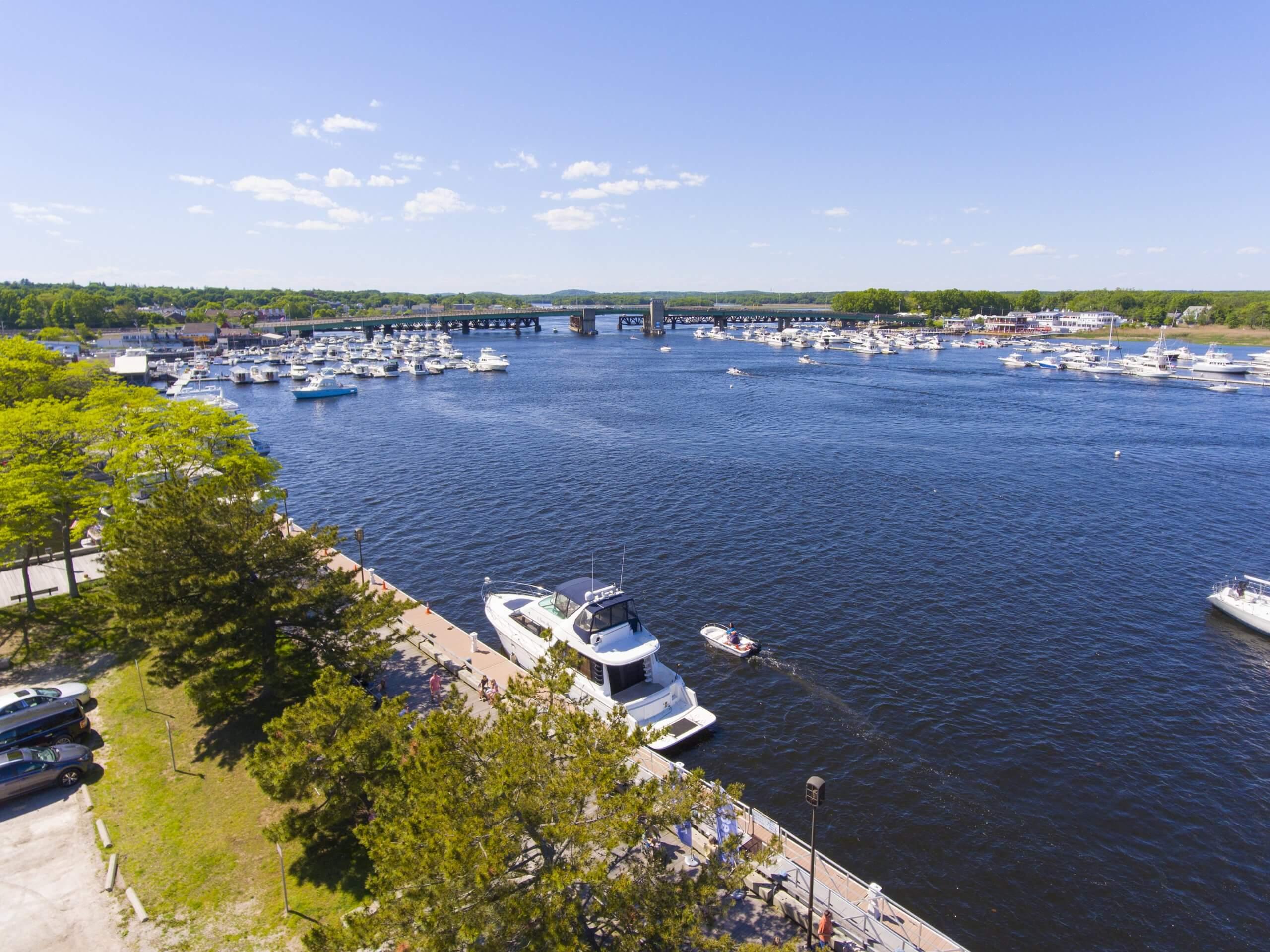 Waterfront in Newburyport, MA